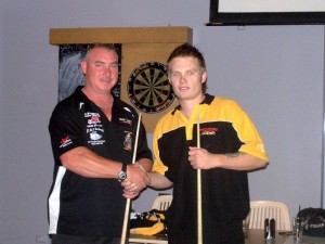 Luke Carter was up again and continued on his winning way with a 4/0 win over Peter Trebley.